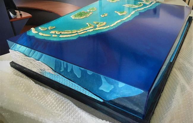 Elemento scatolato colorato per plastico